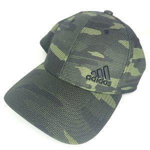 ADIDAS Green Camo Stretch Fit Men's Cap Hat